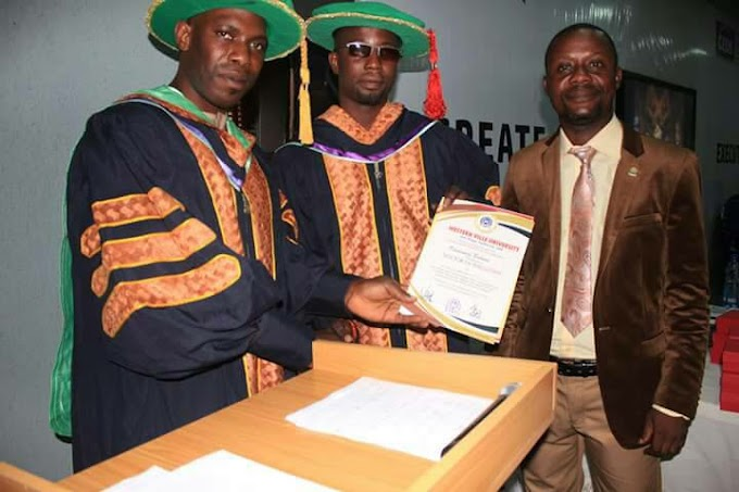 Hon Jah Jah added a new title to is name {doctorate} Honoraray degree
