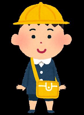 通園バッグを掛ける幼稚園生のイラスト(男の子)