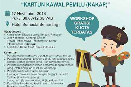 100 kartunis Jawa Tengah ikut kawal Pemilu