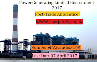 Power Generating Limited Recruitment 2017– 169 Trade Apprentice