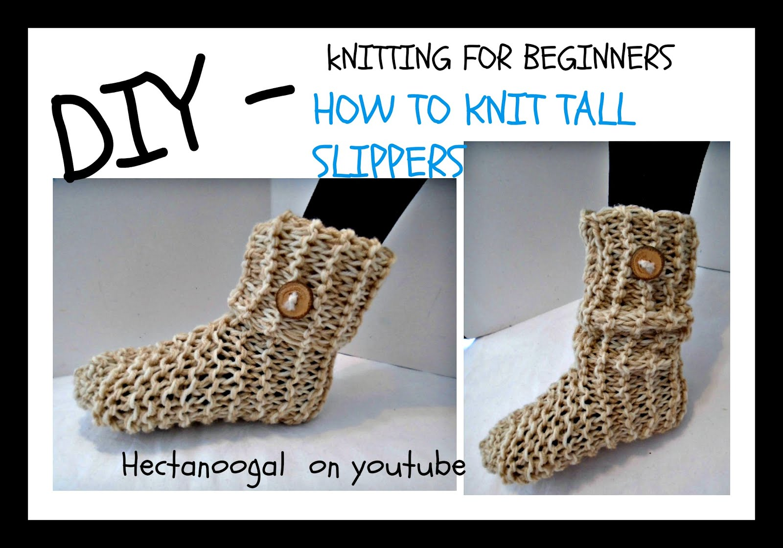 Hectanooga Patterns Free Knitting Pattern Unisex Tall Slippers