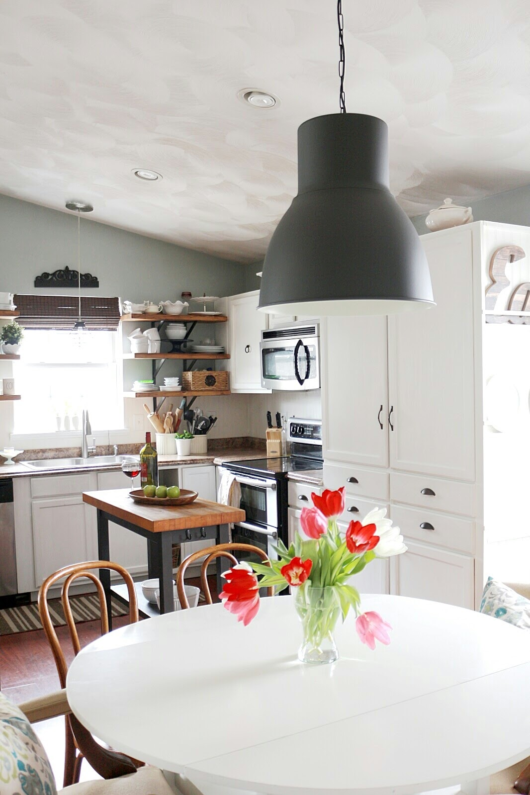 New Dining Room Lighting, Ikea Hektar Pendant - Made by Carli