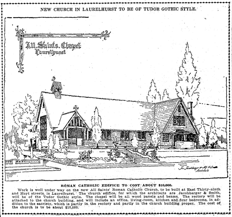 Laurelhurst Craftsman Bungalow: Nov 1917: All Saints Church