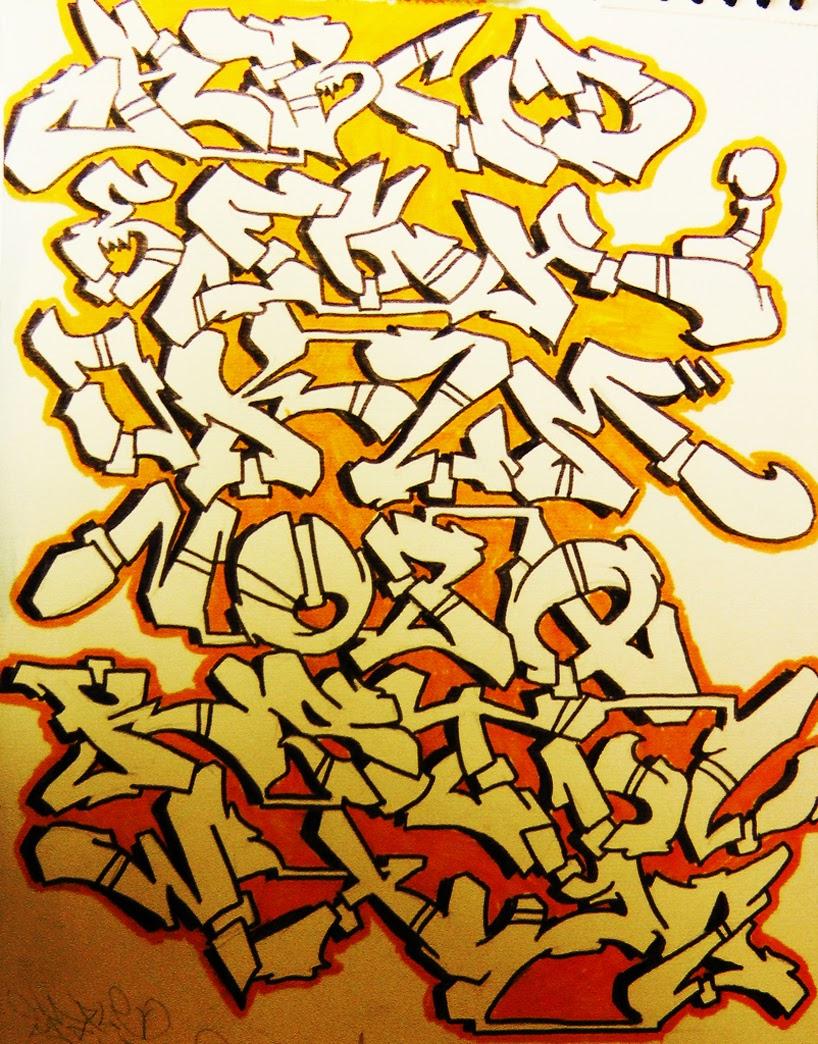 alphabet graffiti 3d a...