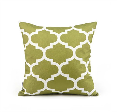 Fall Green Geometric Pillow Cover featured on Walking on Sunshine.