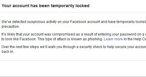 Facebook account temporarily locked-Identity not confirmed [Solved] |                      Tech Dragon