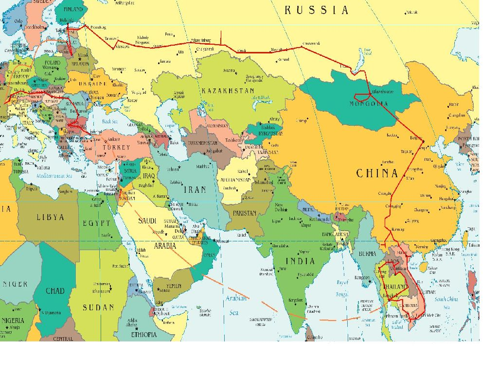 world map europe and asia
