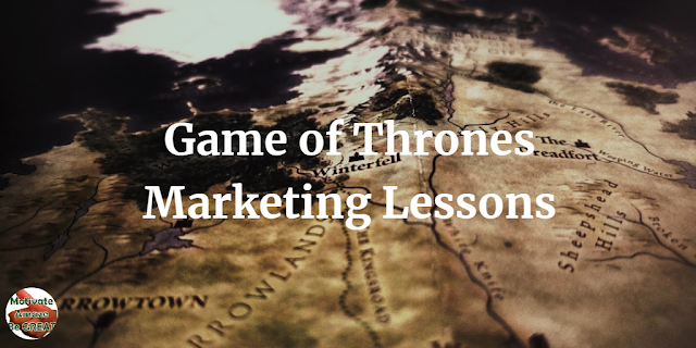 "Header image of the article: ""8 Marketing Lessons You Can Learn From ""Game of Thrones"""". Inspiring marketing ideas taken from the favorite HBO series."