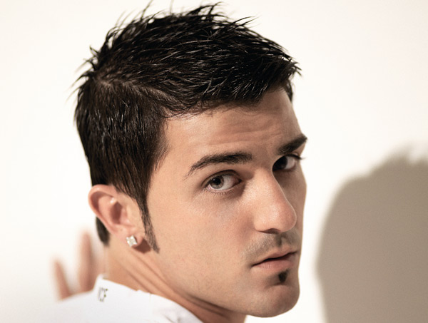 Men Hairstyles: David Villa's Hairstyle