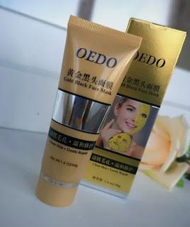 Oedo siyah nokta için altın maske