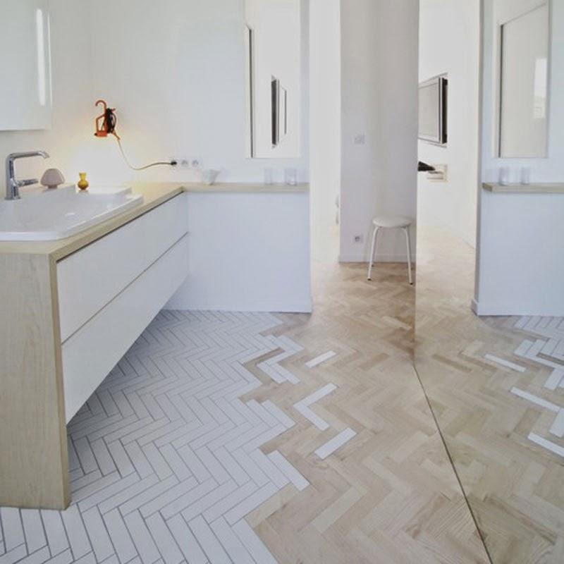 Un nueva tendencia en suelos una selecci n de creativos - Como poner baldosas en el piso ...