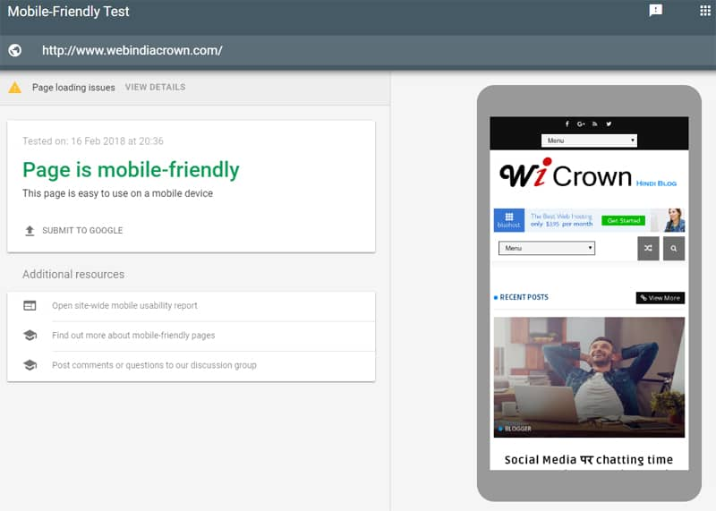 Mobile Friendly for SEO