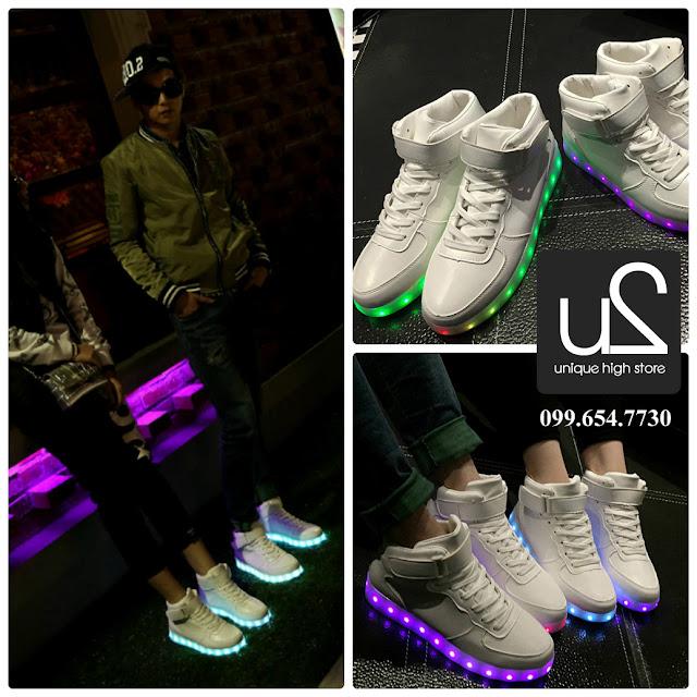 GS43 - giày độn đế đèn LED phát sáng