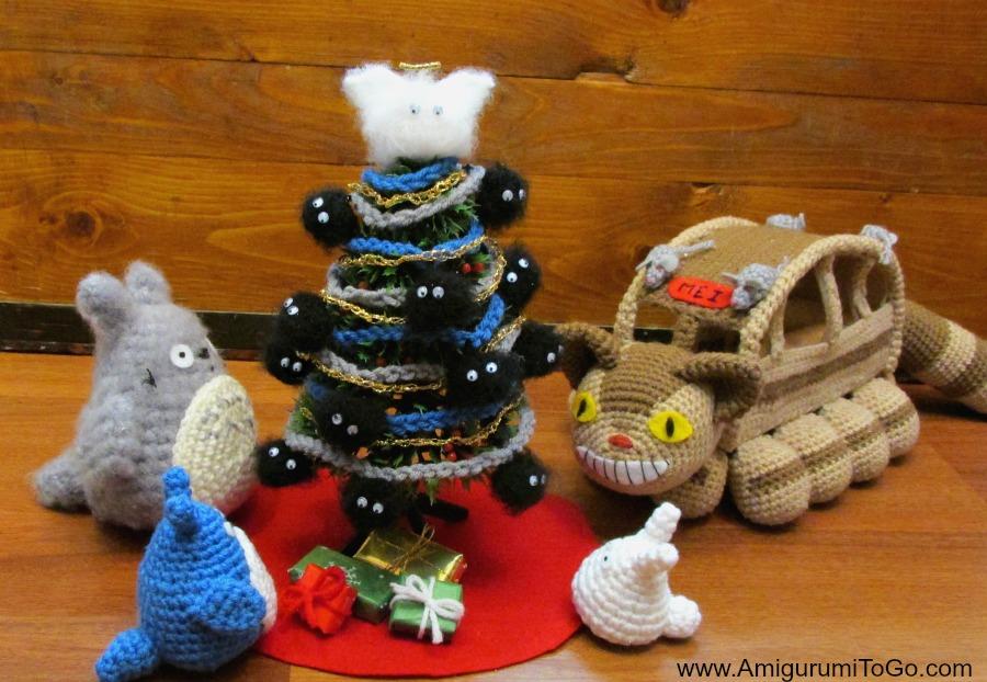Totoro Azul Amigurumi : Totoro and soot sprites free pattern with video amigurumi to go