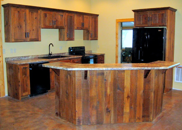 Rustic Wood Witchen Cabinets