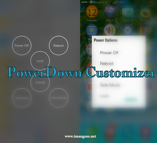 PowerDown Customizer is a brand new cydia tweak by SynnG(@SynnyG_R) which offers five different styles of powerdown options