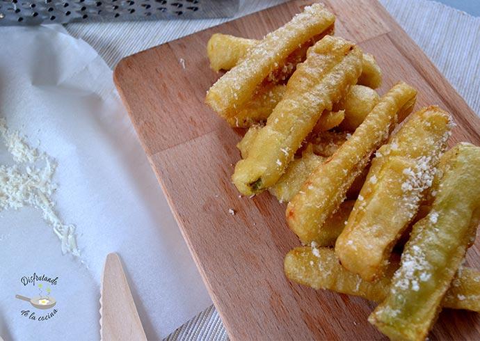 Palitos de calabacín y parmesano (Receta fácil)