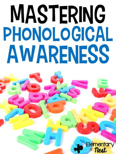 Phonological Awareness- ELA Activities for first grade students working with syllables, vowels, phonemes, decoding, and isolating sounds. Common Core aligned hands-on work for Foundational skills