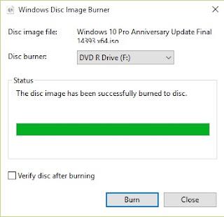 burning file iso selesai