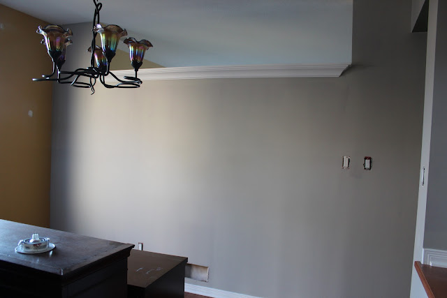 Paint your walls with Sherwin Williams Mindful Gray  #Mindful Gray #Paint colors #Sherwin Williams @SettingforFour