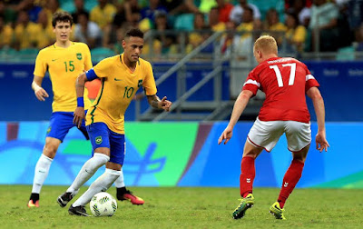 Brazilian Footballers Defeats Denmark 4-0 and Advanced to Quarter Finals at Rio