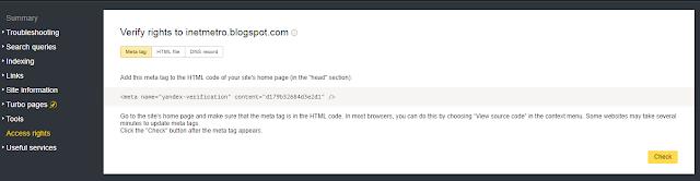 Cara Mendaftar dan Submit URL Blog ke Yandex Webmaster Tools Panduan Lengkap
