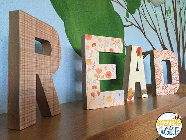 READ letters decorate our shelves.