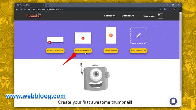 إنشاء صور مصغرة (YouTube Thumbnail) إحترافية مجانا وبسهولة - S3