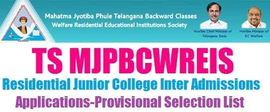 TS MJP BC welfare RJC Inter Admissions Apply Online at mjpabcwreis