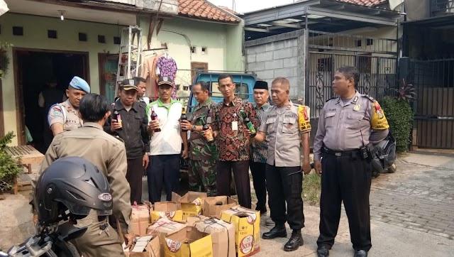 Operasi Gabungan  minuman Keras ( Miras ) Kelurahan Limo