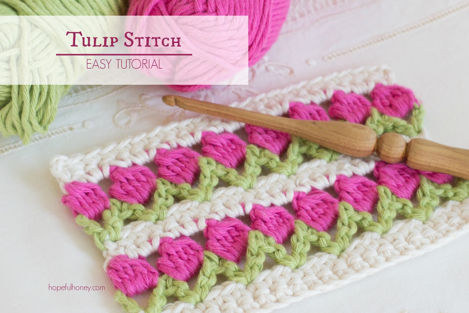 Crochet Stitches Tutorial : ... , Crochet, Create: How To: Crochet The Tulip Stitch - Easy Tutorial
