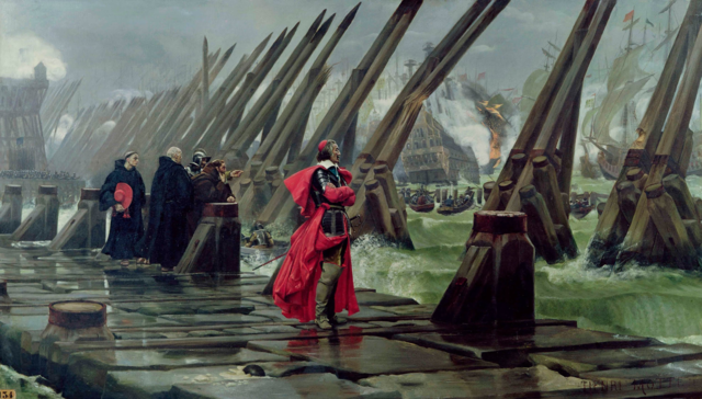 Cardinal de Richelieu at the Siege of La Rochelle