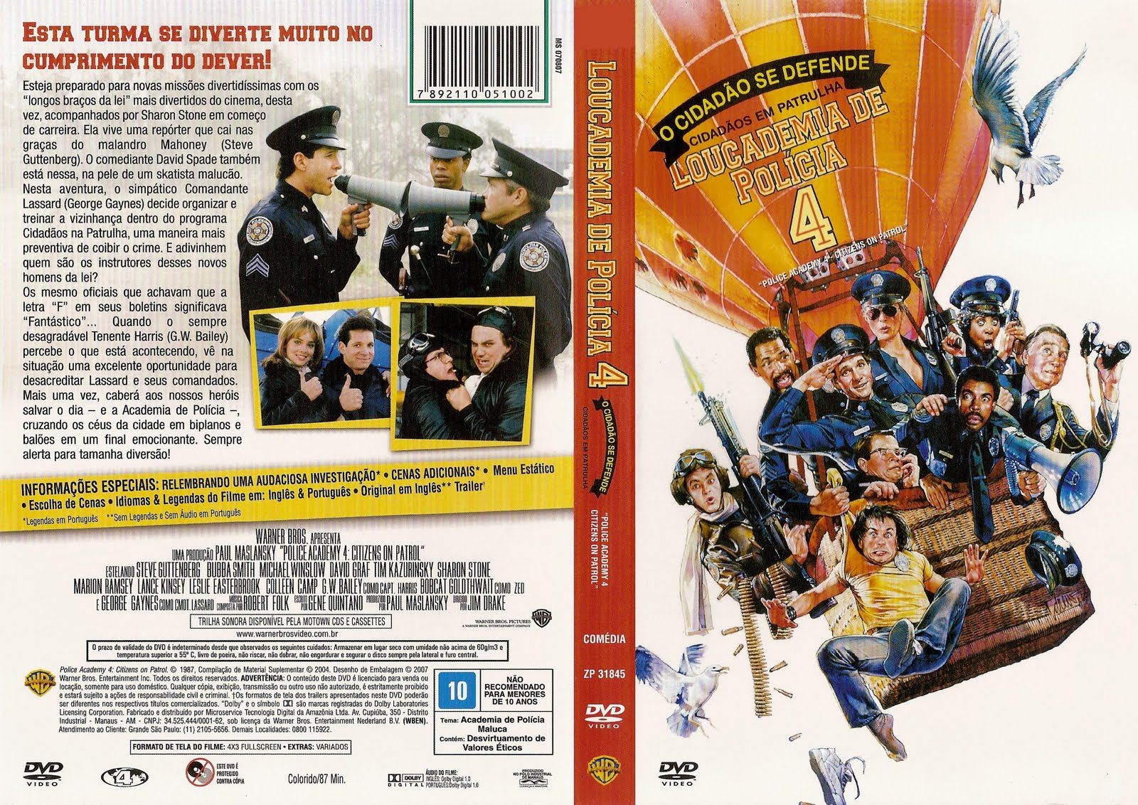 loucademia de policia 5 dvd-r