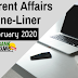 Current Affairs One-Liner: 6th February 2020