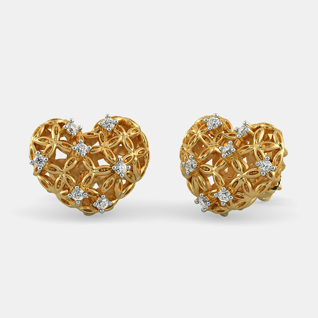 The Scintillating Bloom Stud Earrings - BlueStone, 59625 INR