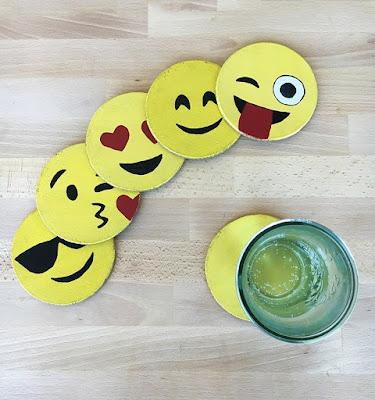 diy emoji coasters, diy projects, do it yourself projects, diy, diy crafts, diy craft ideas, diy home, diy decor