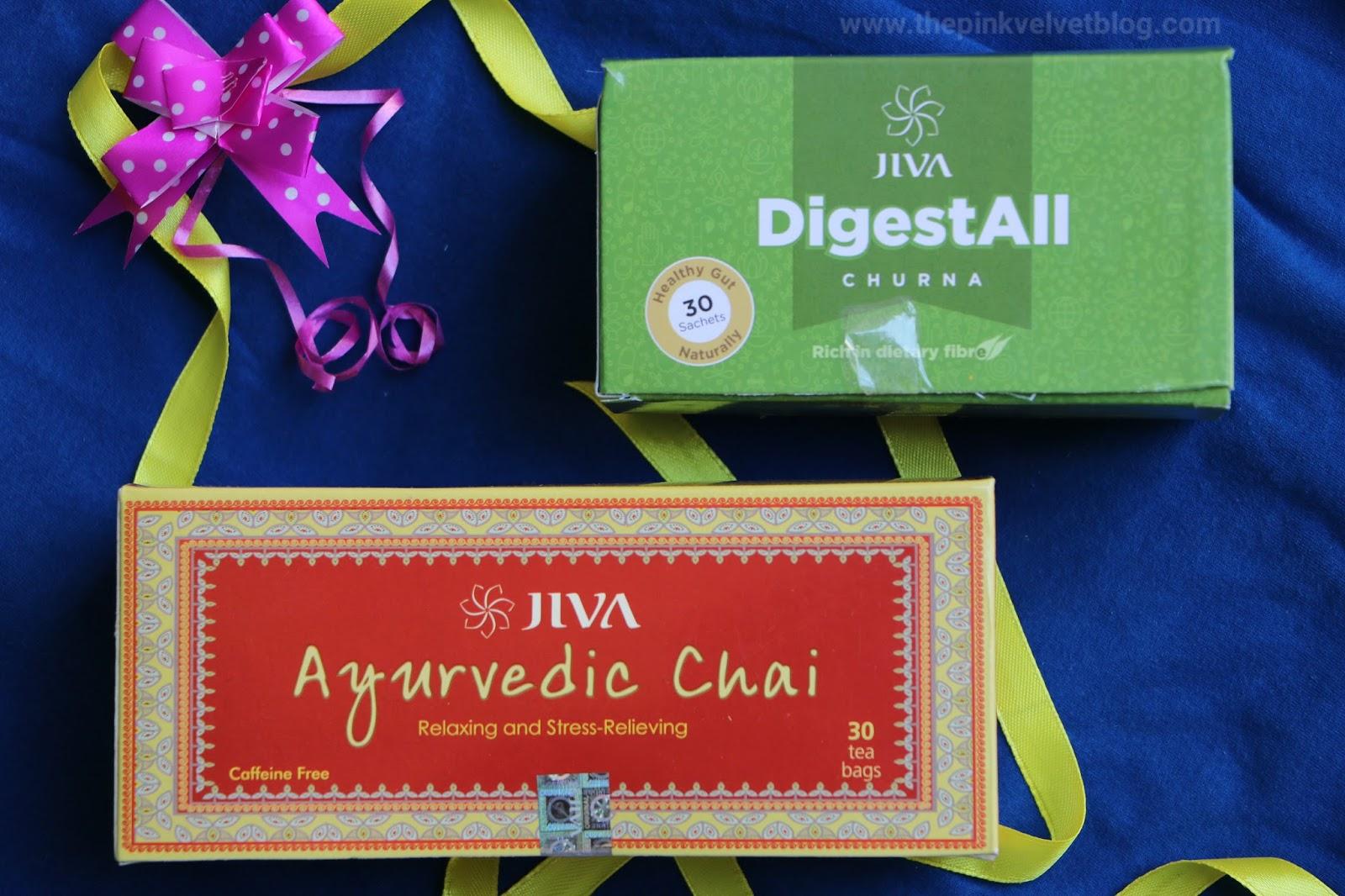 Jiva Ayurveda Digestive Choorna and Ayurvedic Chai
