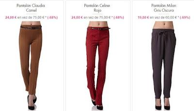 Pantalones de corte recto