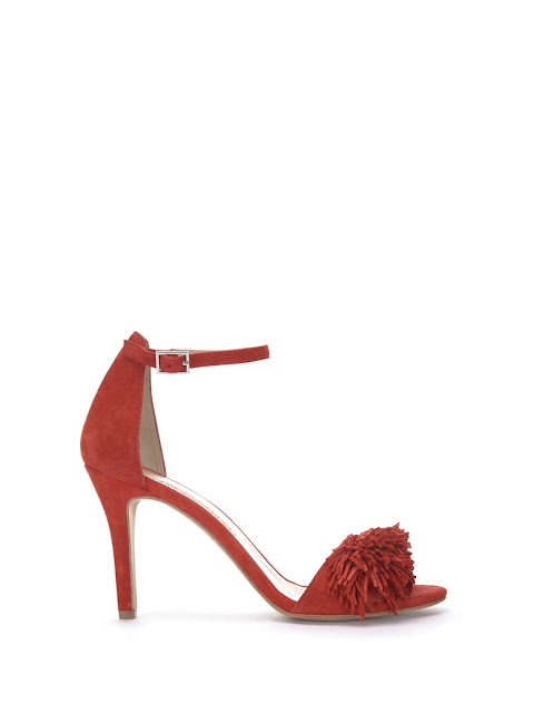 mint velvet sara red fringe high sandal