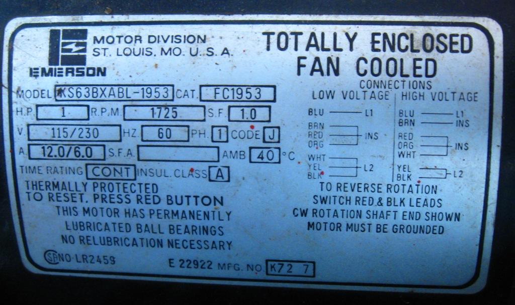 Ac Motor Nameplate Ac Motor Kit Picture