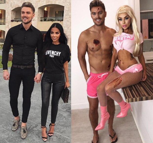 Gorgeous Instagram couple channel Ken and barbie for Halloween
