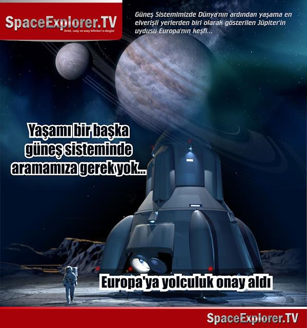 Jüpiter, Jüpiter'in uyduları, Europa, Su bulunan gezegenler, Planetery Society, ABD, NASA, Uzayda hayat var mı?, Evrende yalnız mıyız?,