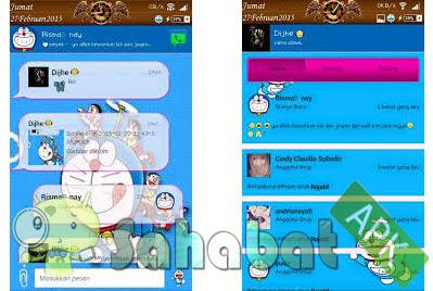 Download BBM Mod Doraemon Apk Versi Terbaru