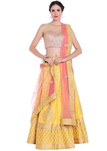 Yellow Lehenga for Indian Weddings and Festivities