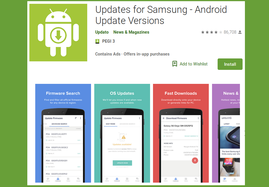 Updates for Samsung — from a blog to an Android advertisement revenue goldmine of 10,000,000+ users