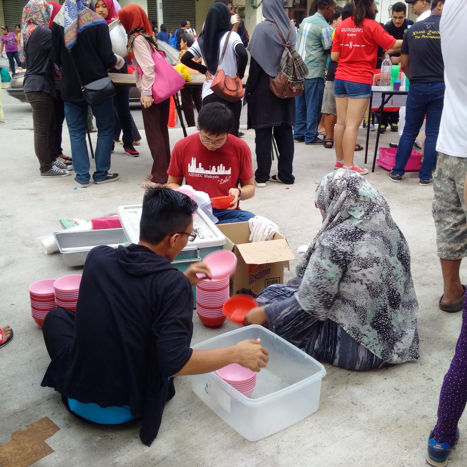 Volunteers Clearing Up