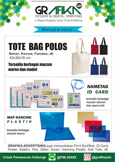 Jual Tote Bag kanvas di Malang