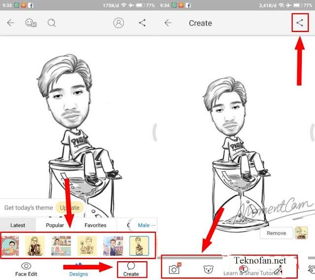 Cara Membuat Karikatur di Android Menggunakan Aplikasi MomentCam