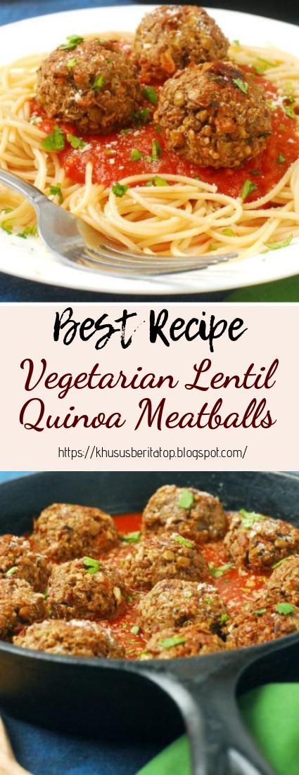 Vegetarian Lentil Quinoa Meatballs #dinnerrecipe #food