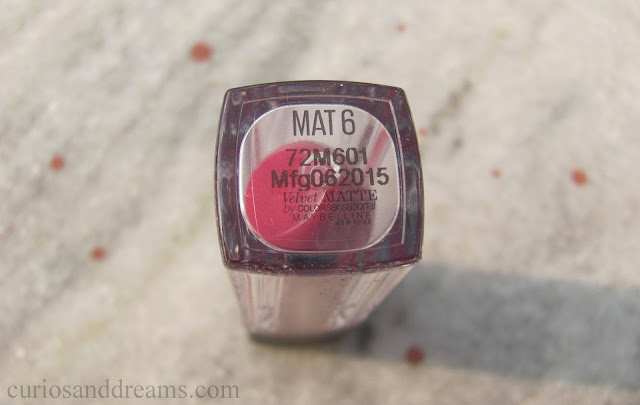 Maybelline Velvet Matte review, Maybelline Velvet Matte Mat 6 review